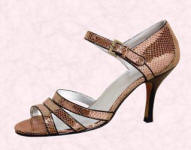 Snakeskin look metallic heel by Matalan �14